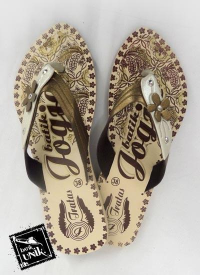 Sandal Batik Terbaru  Jogja Bunga Duo Warna