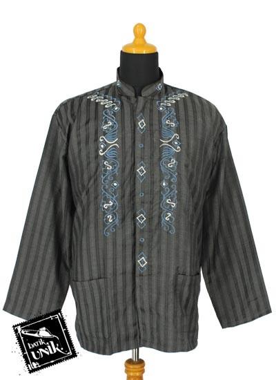 Baju Muslim Koko Panjang Dewasa Katun Bordir