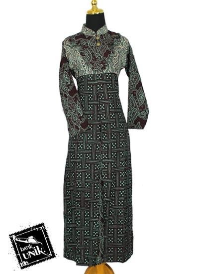 Baju Batik Sarimbit Gamis Motif Cempaka Tumpal Sarimbit