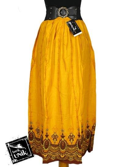 Rok Batik Panjang Shanthung Motif Gantung Tumpal Mahkota