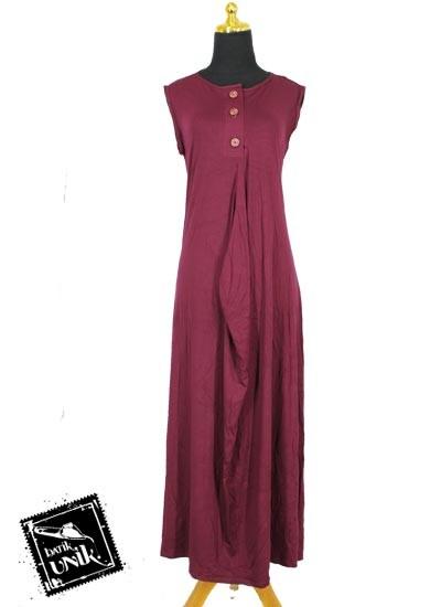 Baju Muslim Gamis Wide Dress Kaos Tanpa Lengan Gamis