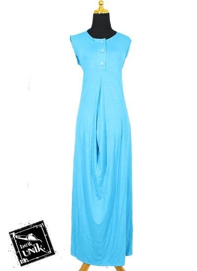 Baju muslim gamis wide dress kaos tanpa lengan gamis Baju gamis lengan lonceng