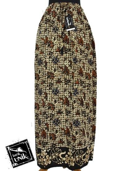 Baju Batik Rok Panjang Motif Sogan Batangan Tumpal