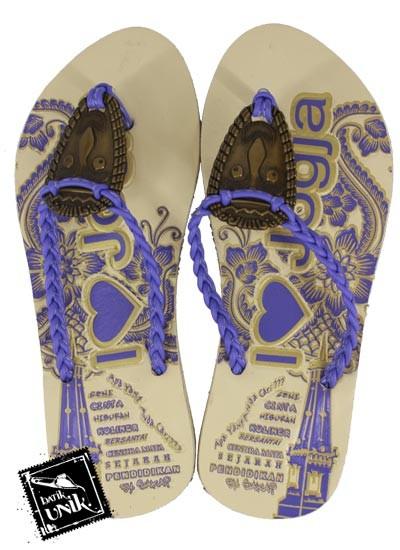 Sandal Batik Terbaru  Tali Kepang Kembang Indian