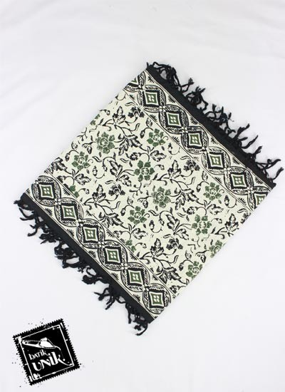 Taplak Meja Tamu Batik Terbaru  Cap Peksi Rumbai