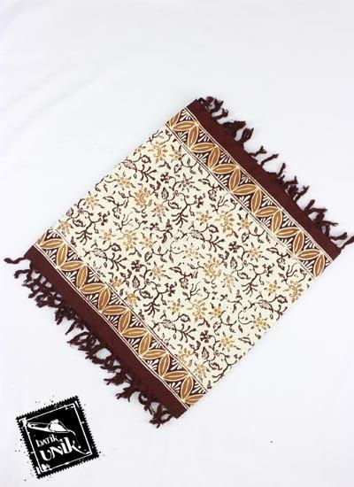Taplak Meja Tamu Batik Cap Peksi Rumbai