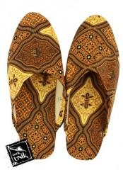 Sandal Selop Tutup Batik Mix Motif