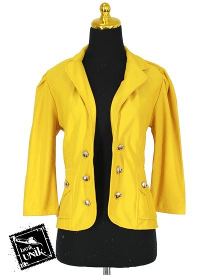 Baju Blezer D'niel Kancing Polosan Warna kuning