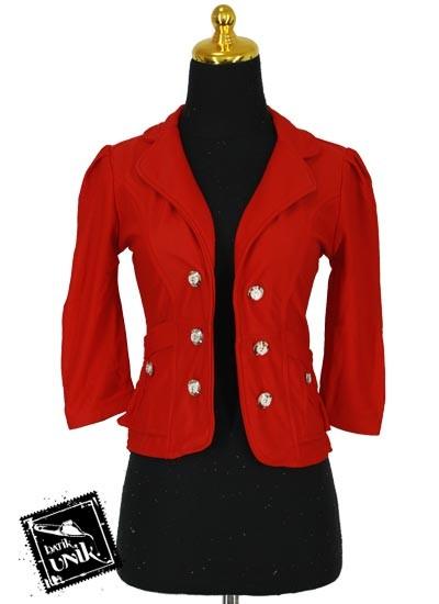 Baju Blezer D'niel Kancing Polosan Warna Merah