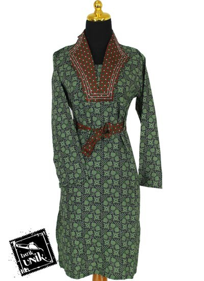 Model Gamis Cantik Baju Gamis Batik Sarimbit Coklat Foto