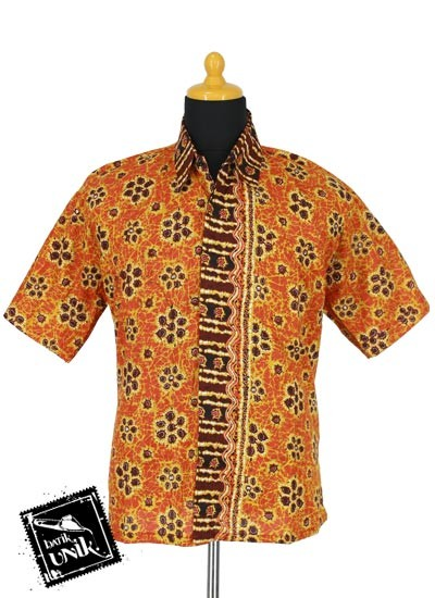 Baju Batik Sarimbit Blus Motif Kembang Kroto Tumpal