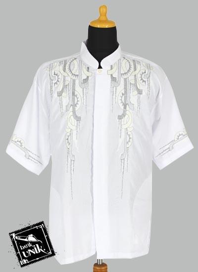 Baju Batik Terbaru  Koko Pendek Dobi Exclusive Aplikasi Bordir