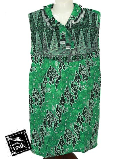 Baju Batik Anak Erika Motif Mega Mendung Tumpal Size XL