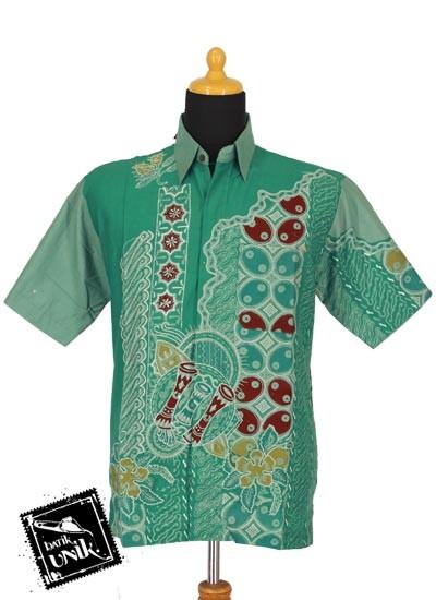 Baju Batik Kemeja Tulis Motif Kombinasi Dua Jaman Kemeja