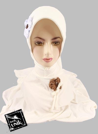 Jilbab Instan Salur Bunga Mawar