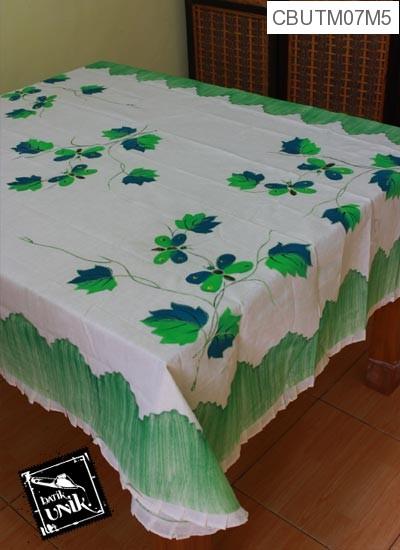 Taplak Meja Makan Persegi Panjang Batik Motif Lukis Kupu