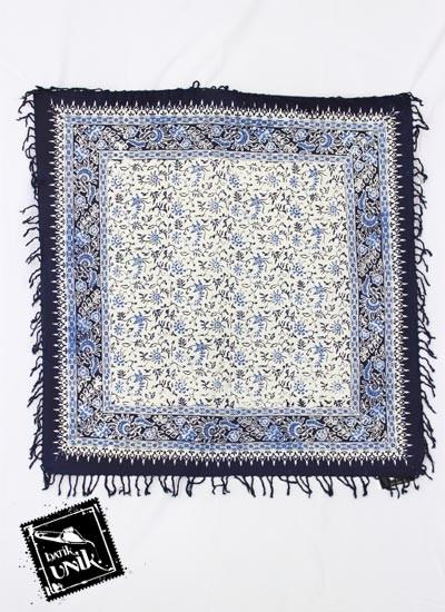 Taplak Meja Tamu Persegi Batik Terbaru  Cap Peksi Rumbai