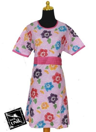 Baju Batik Terbaru  Pesta Pekalongan Motif Bunga Sepatu Kipas