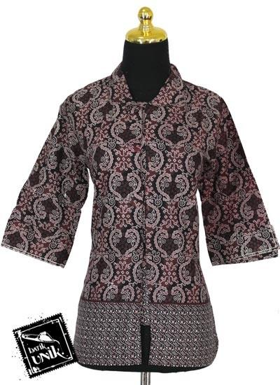 Baju Batik Sarimbit Blus Motif Garda Klopo Tumpal