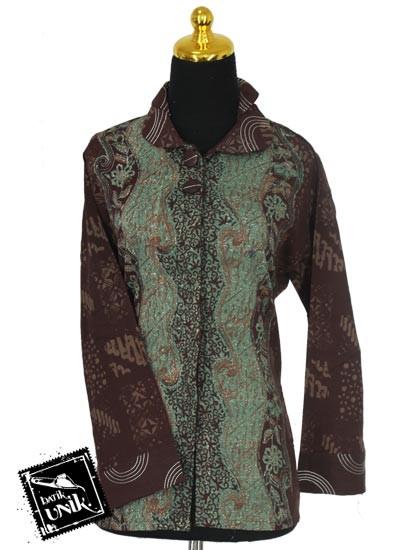 Sarimbit Blus Katun Motif Campuran Kotemporer Batik Terbaru