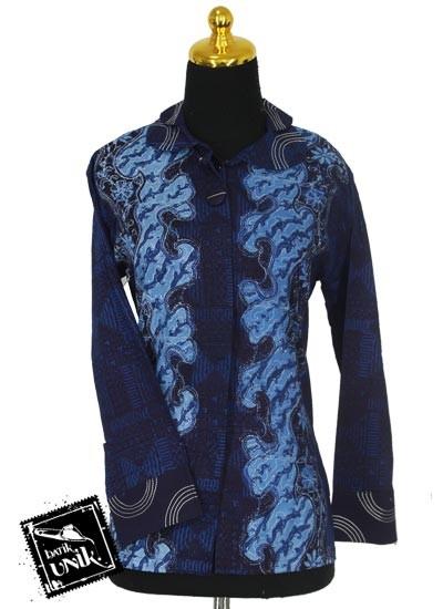 Sarimbit Blus Katun Motif Campuran Kotemporer Batik
