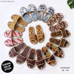 Sandal Selop Batik Etnik Standart Mix Motif