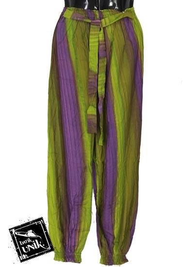Celana Aladin Motif Salur Pelangi