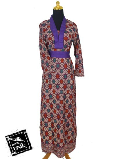 Baju Batik Gamis Katun Motif Songket Etnik Tumpal Gamis Batik