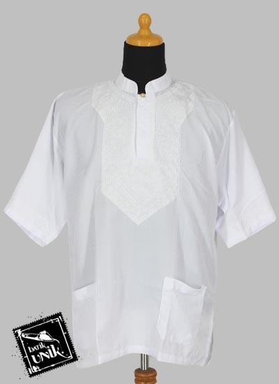 Baju Batik Koko Pendek Dobi Exclusive Aplikasi Bordir