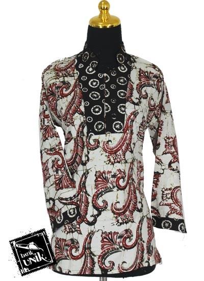 Baju Batik Terbaru  Sarimbit Blus Pekalongan Motif Sogan Godhong Rol Dua