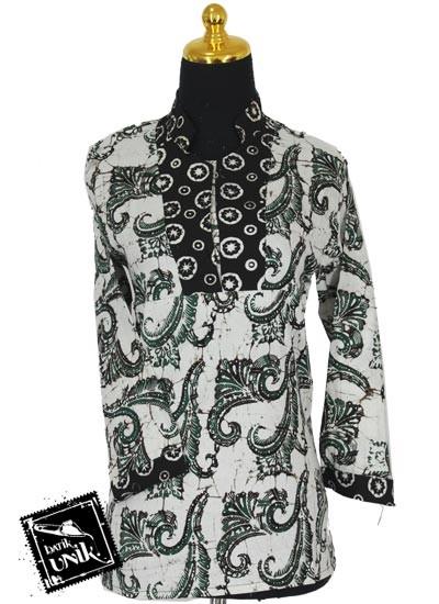 Baju Batik Sarimbit Blus Pekalongan Motif Sogan Godhong Rol Dua