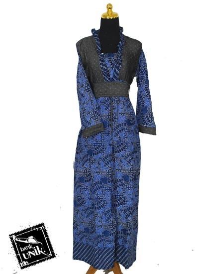 Baju Batik Sarimbit Gamis Kombinasi Motif Capung Balung Tumpal Ke Dua
