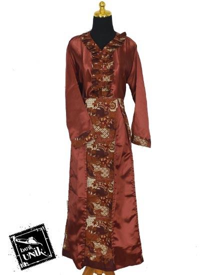 Baju Batik Terbaru  Sarimbit Gamis Pekalongan Motif Jagad Grombol