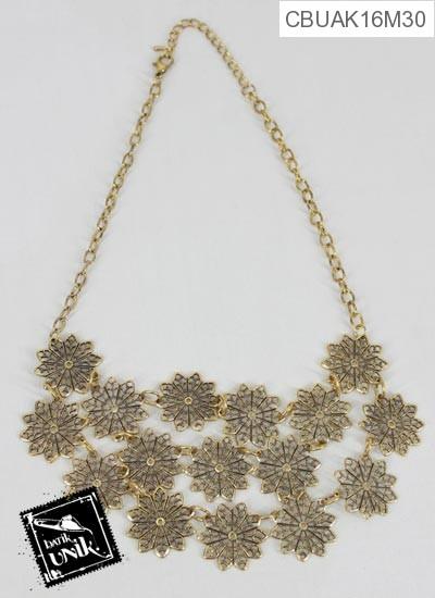 Kalung Coker Tembaga Bagar Emas