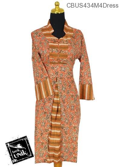 Sarimbit Dress Katun Motif Kembang Krokot Tumpal
