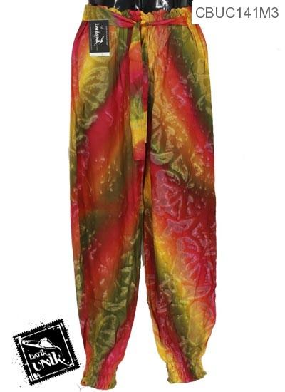 Celana Aladin Motif Abstrak Teplok