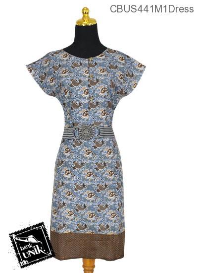 Sarimbit Dress Motif Ikan Laut Tumpal