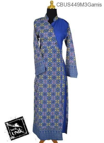 Baju Batik Gamis Pekalongan Motif Songket Kawung Gamis