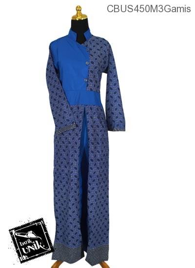 Baju Batik Sarimbit Gamis Motif Kembang Megar Cempol