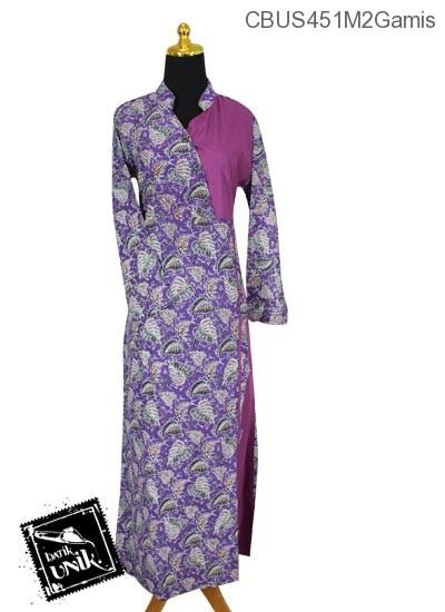 Baju Batik Sarimbit Gamis Pekalongan Motif Godhong Saluran