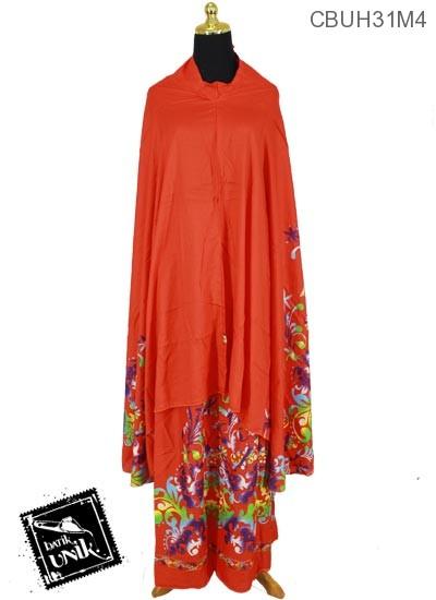 Mukena Batik Santhung Motif Bunga Henna