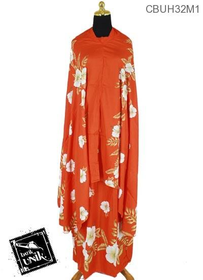 Mukena Batik Santhung Motif Bunga Sepatu