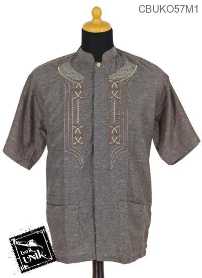 Baju Muslim Koko Motif Bingkai Songgo
