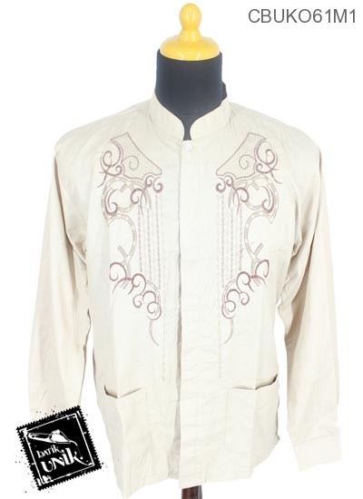 Baju Muslim Koko Motif Rantai Mlengkuwer