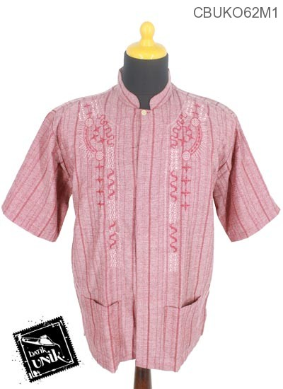 Baju Muslim Koko Motif Salur Gelombang