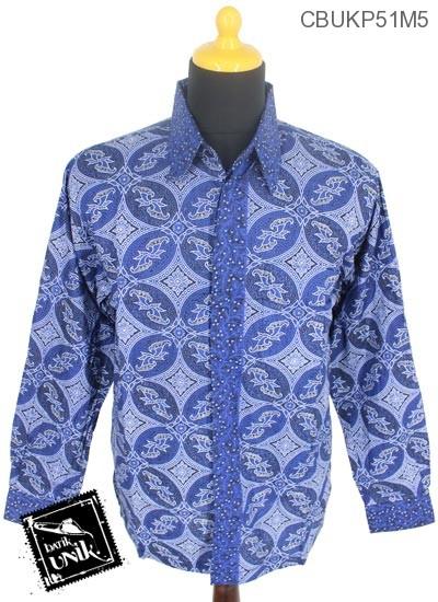 Baju Batik Kemeja Panjang Pekalongan Motif Kawung Isi