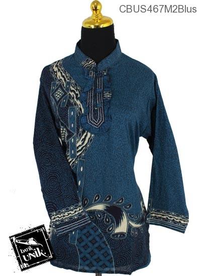 Baju Batik Sarimbit Blus Pekalongan Motif Serat kawung