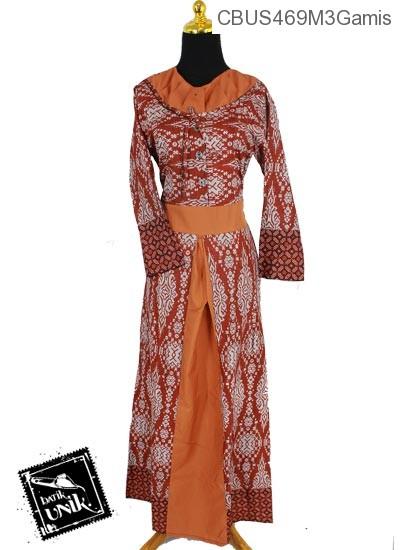 Model Baju Gamis Motif Etnik