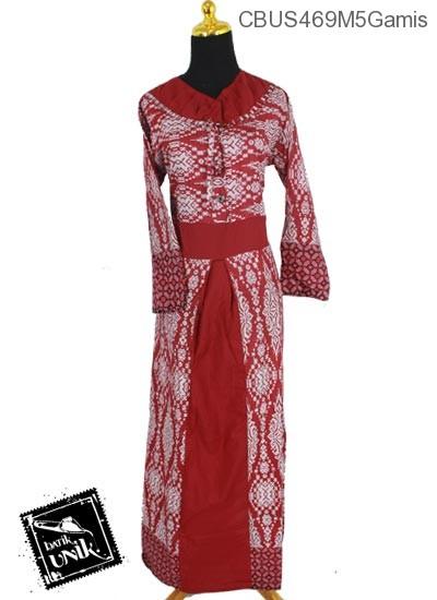 Baju Batik Sarimbit Gamis Motif Asmat Etnik Tumpal Gamis