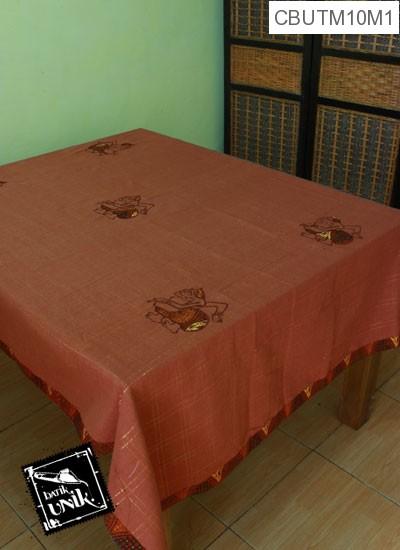 Taplak Meja Makan Motif Semar Batik Coklat Tua